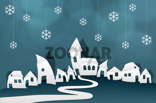 winter village paper origami cut out scissors tinker star