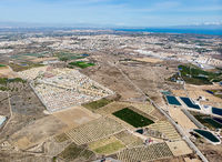 Aerial view Los Montesinos townscape. Spain