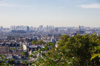 Aerial view of Paris from the Butte Montmartre