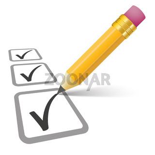 Pencil Checklist 3 Ticks