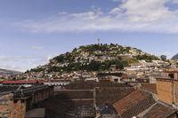 City view of Quito, the capital of Ecuador, South America.