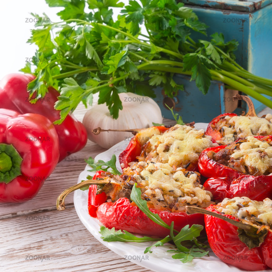 paprika with rice fullly