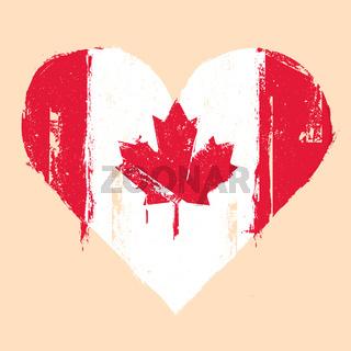 Canada grunge heart