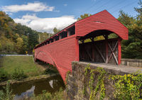 Barrackville covered bridge is well preserved Burr Truss construction in West Virginia