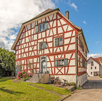 Half-timbered house in Markelfingen on Lake Constance