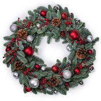 Christmas fir wreath isolated
