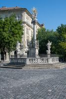 Religious statue in Bratislava Slovakia