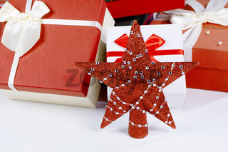Christmas gifts and red star