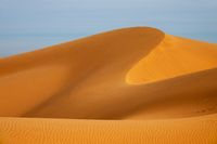 Big sand dune in Sahara desert