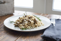 Tagliatelle vegetarian Pasta with Mushrooms