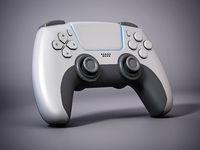 Generic next gen video game controller. 3D illustration