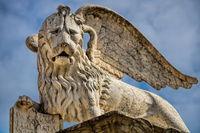 Vicenza, Italy - 03/19/2019 - markus lion on the piazza dei signori