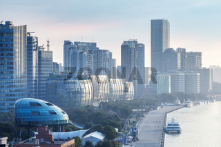 shanghai cityscape in early morning on north bund