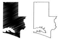 Walton County, Florida (U.S. county, United States of America, USA, U.S., US) map vector illustration, scribble sketch Walton map