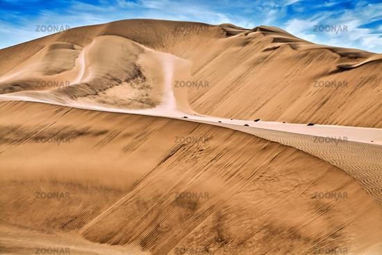Dunes in the Namib Desert, Namibia; dunes in the Namib-desert