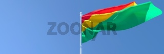 3D rendering of the national flag of Bolivia waving in the wind