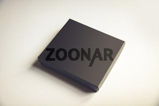 Black gift box on white background