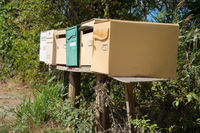 Many retro mail boxes