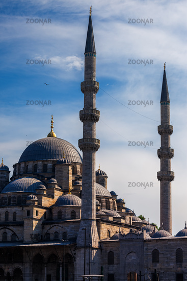 New Mosque in Istanbul at Sunset