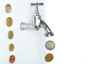 money and faucet