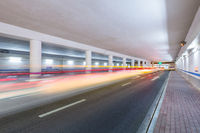 city road in underpass