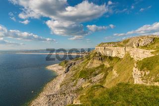 View towards Fortuneswell and Chesil Beach, Isle of Portland, Jurassic Coast, Dorset, UK