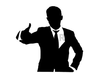 Business man gesturing OK sign  2