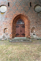Brick church in Nienwalde in the Wendland, Lower Saxony