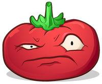 Tomato Disgruntled Cartoon