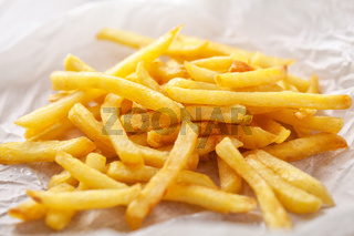 French Fries on white background. High quality photo.