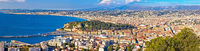 City of Nice waterfront aerial panoramic view, French riviera
