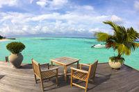 beautiful beach ,yacht and water villa.maldives