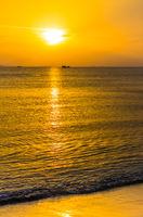 Amazing sunset view on South China sea at Sanya, Hainan, China