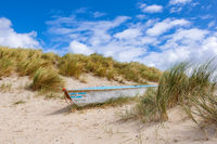 Boat in the dunes