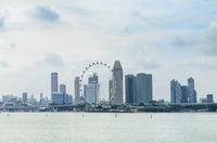 Singapore Flyer, Downtown skyline