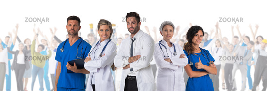 Doctors and many patients
