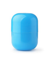 Blue plastic fillable toy egg