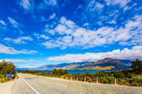 Asphalt road around Lake Wanaka