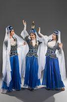 Beautiful girls in georgian dresses shot