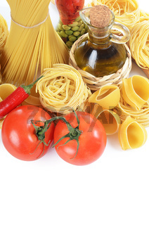 Pasta with spices and vegetables