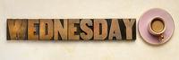 Wednesday word typography