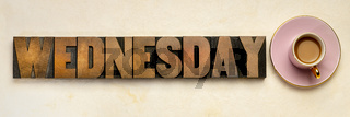 Wednesday word typography