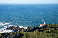 A view of the Candieira Lighthouse in Galicia