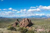 An overlooking view of nature in Lost Dutchman SP, Arizona