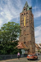 Delitzsch, Germany - 06/19/2019 - wide tower in the old town