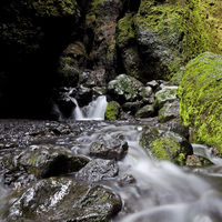 Watercourse in the Raudfeldargja Gorge, Snæfellsnes, Iceland, Europe
