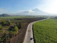 Mount Kanlaon, Negros Island, The Philippines - Aerial Photograph