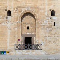 Entrance of the main tower of the Citadel of Qaitbay, Alexandria, Egypt