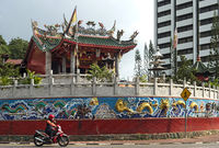 At the Chinese Tua Pek Kong Temple, Kuching, Sarawak, Borneo, Malaysia