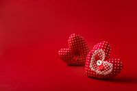 Decorative fabric heart for Valentines day